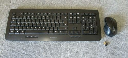 Cherry DW 5100 Wireless Keyboard And Optical Mouse Set Black